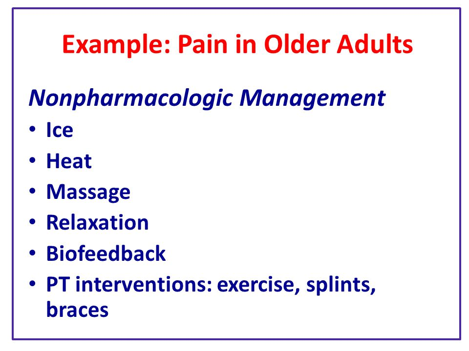 Example: Pain in Older Adults