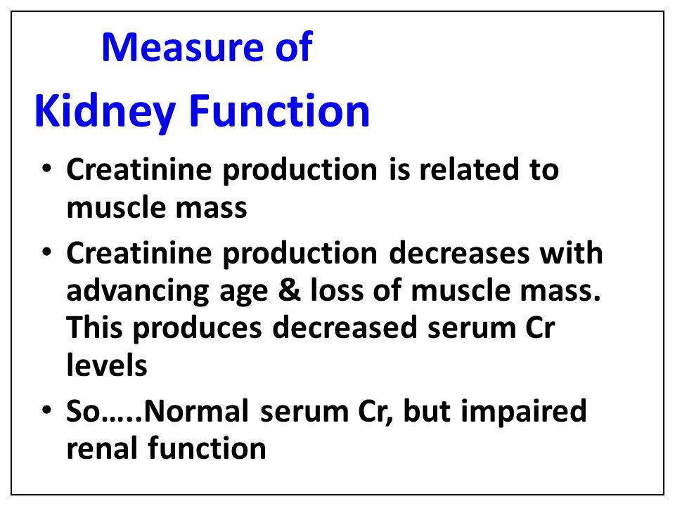 Measure of Kidney Function