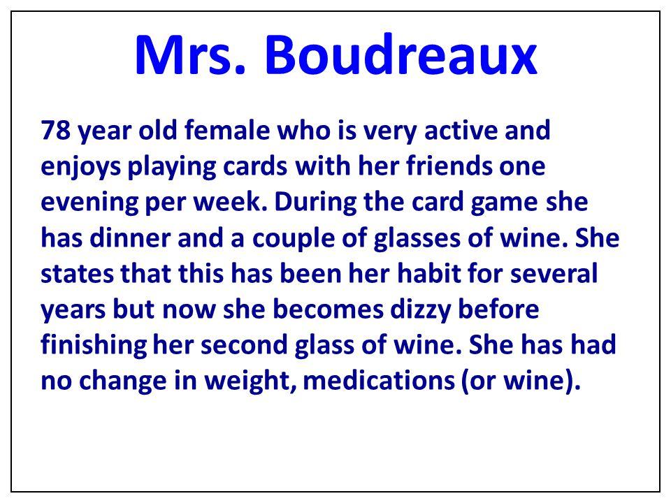 Mrs. Boudreaux