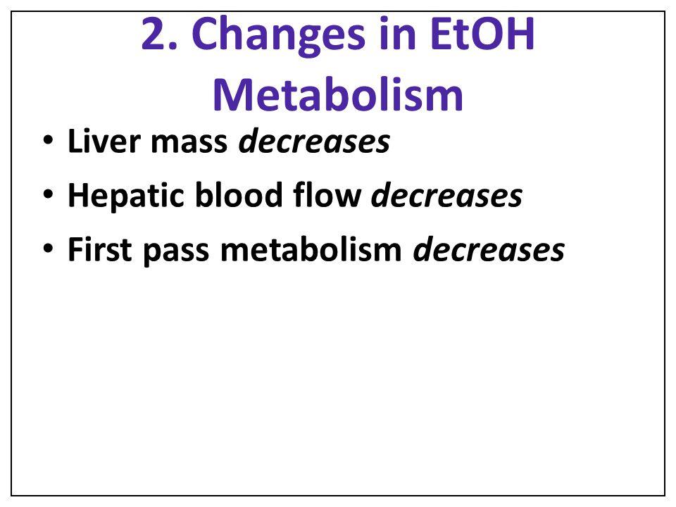 2. Changes in EtOH Metabolism