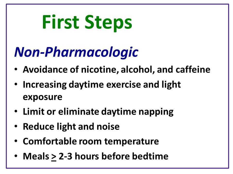 First Steps Non-Pharmacologic