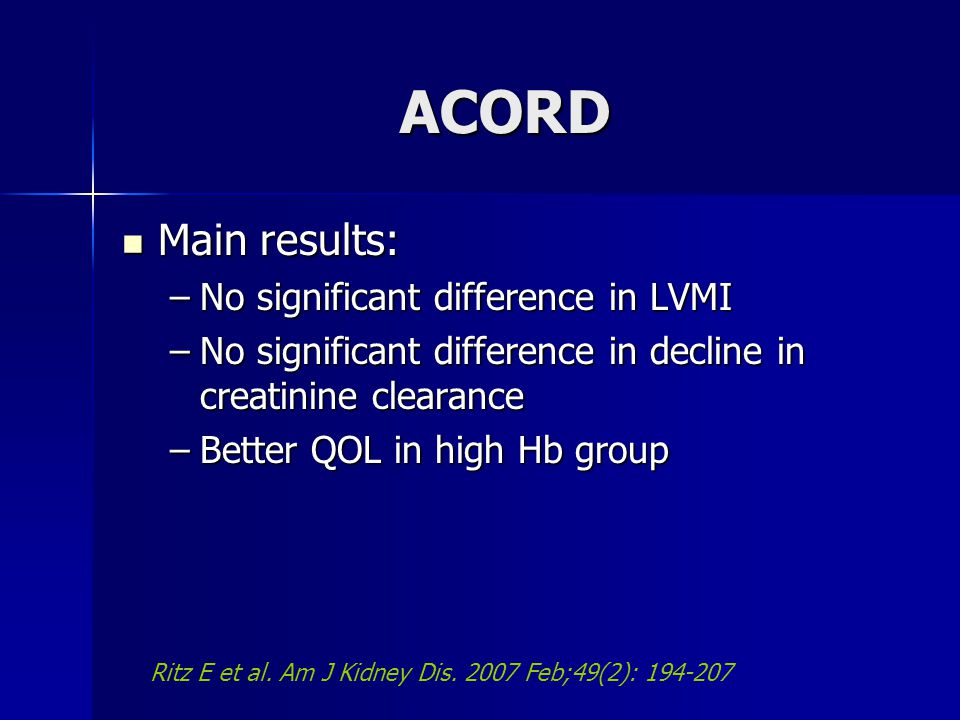 ACORD Main results: No significant difference in LVMI