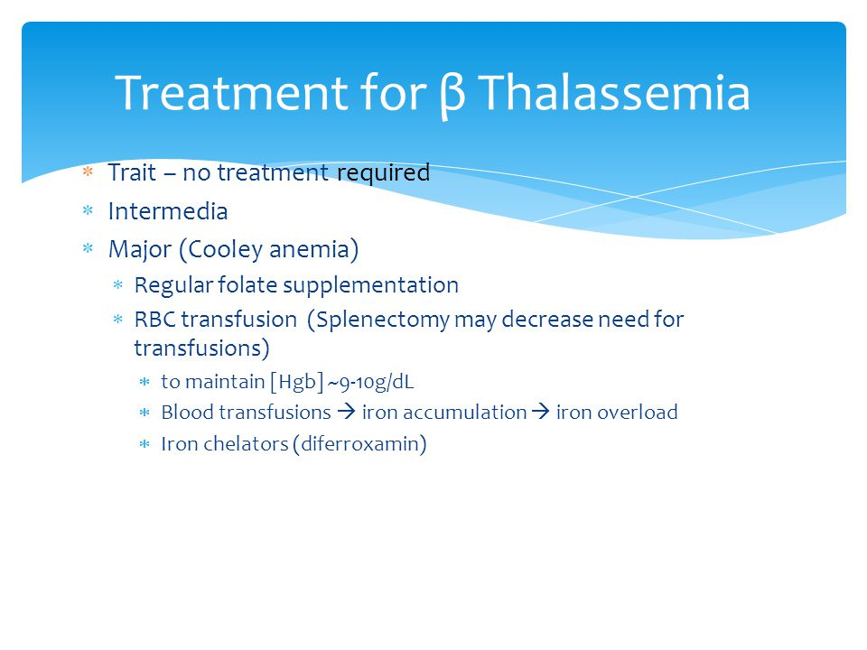 Treatment for β Thalassemia