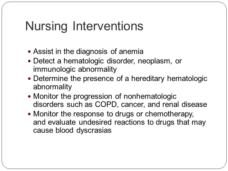 Nursing Interventions
