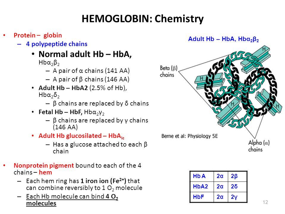 HEMOGLOBIN: Chemistry