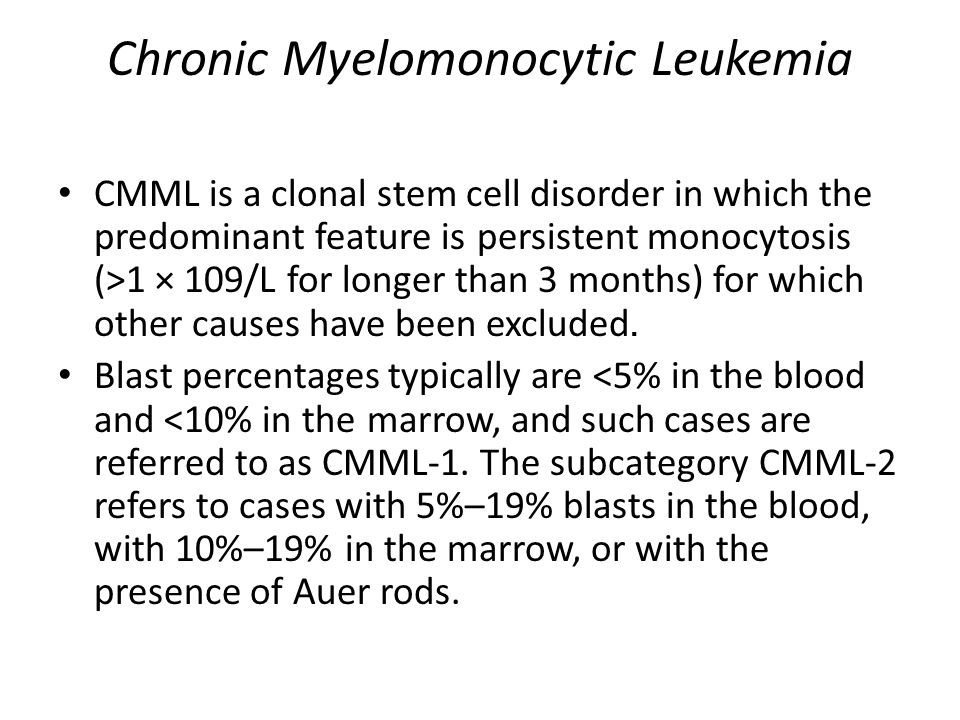 Chronic Myelomonocytic Leukemia