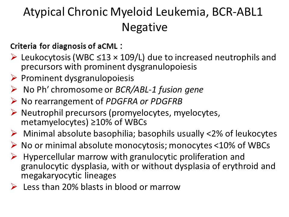 Atypical Chronic Myeloid Leukemia, BCR-ABL1 Negative