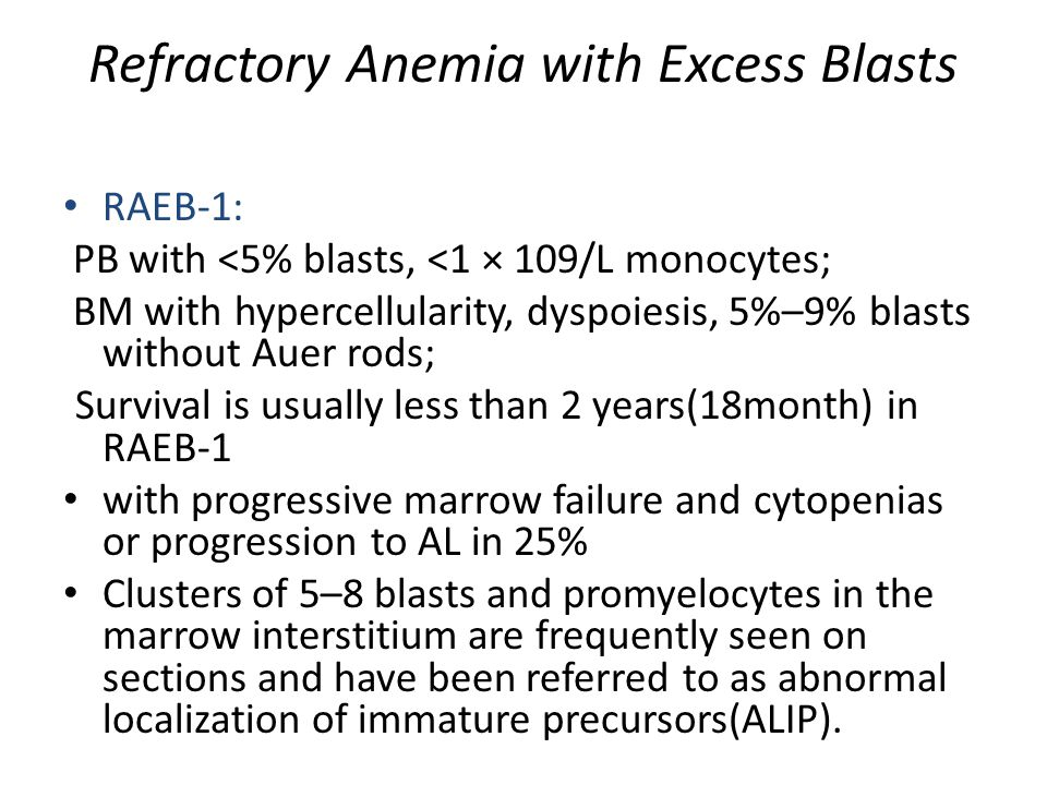 Refractory Anemia with Excess Blasts