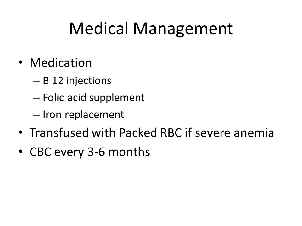 Medical Management Medication
