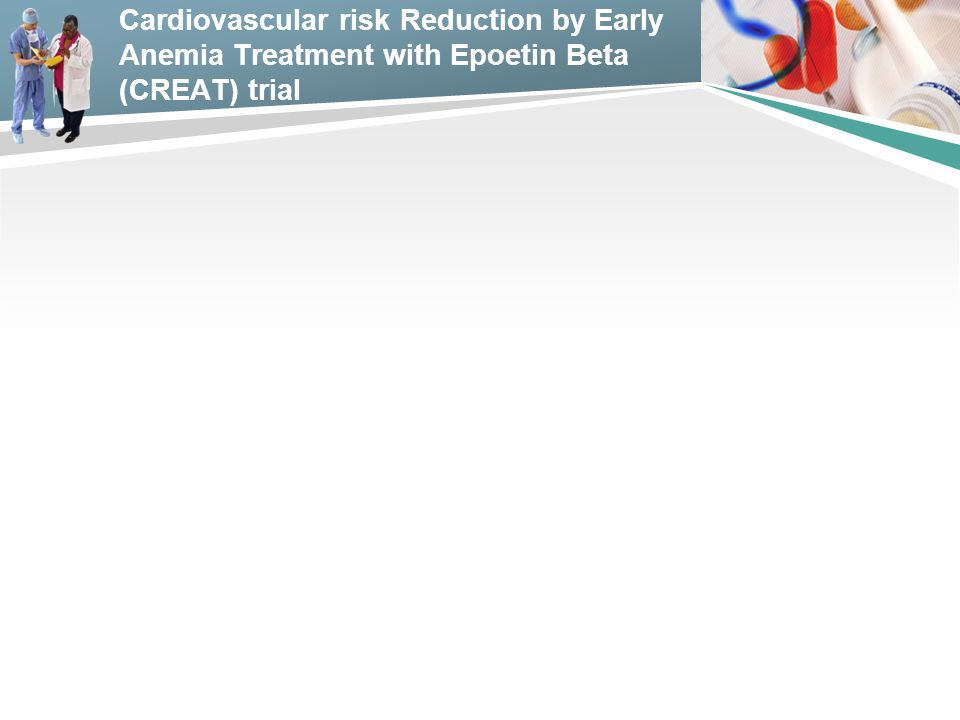 Cardiovascular risk Reduction by Early Anemia Treatment with Epoetin Beta (CREAT) trial