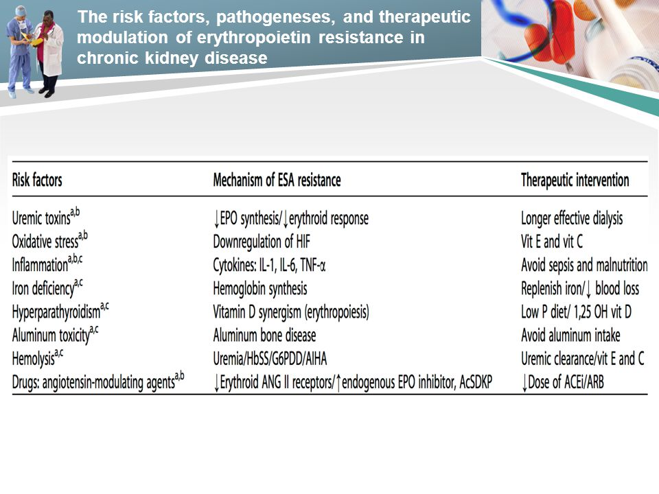 The risk factors, pathogeneses, and therapeutic modulation of erythropoietin resistance in chronic kidney disease