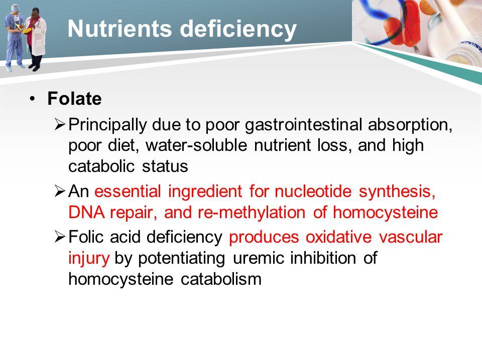 Nutrients deficiency Folate