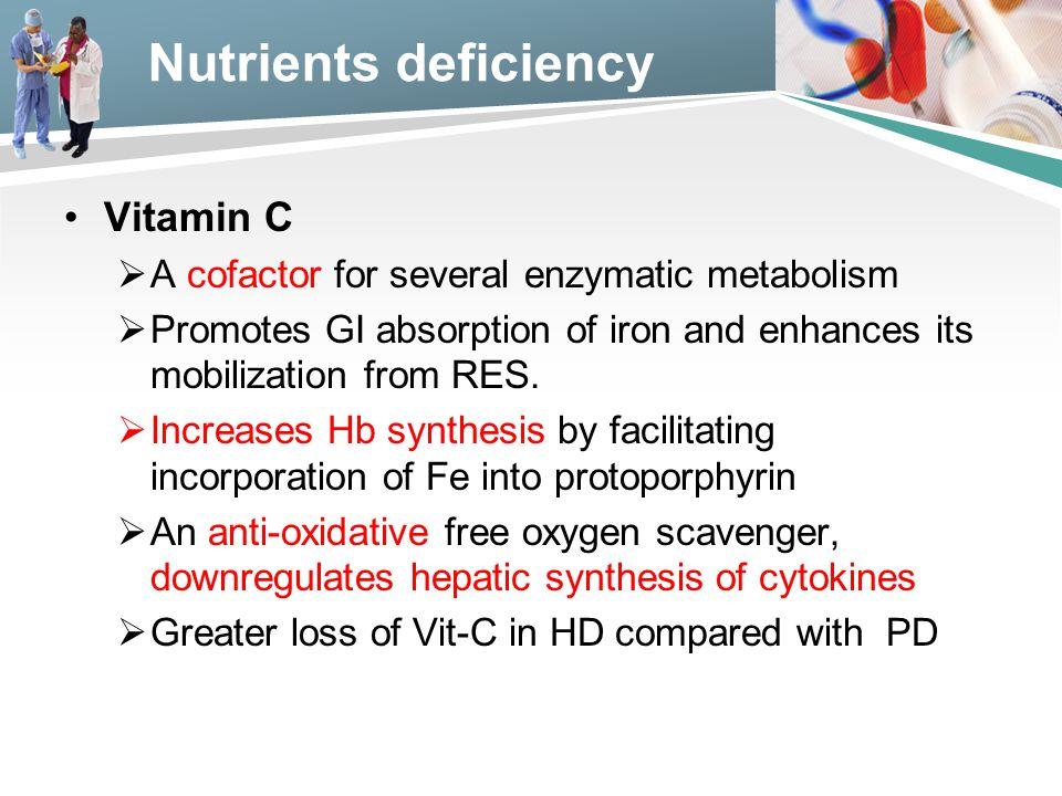 Nutrients deficiency Vitamin C