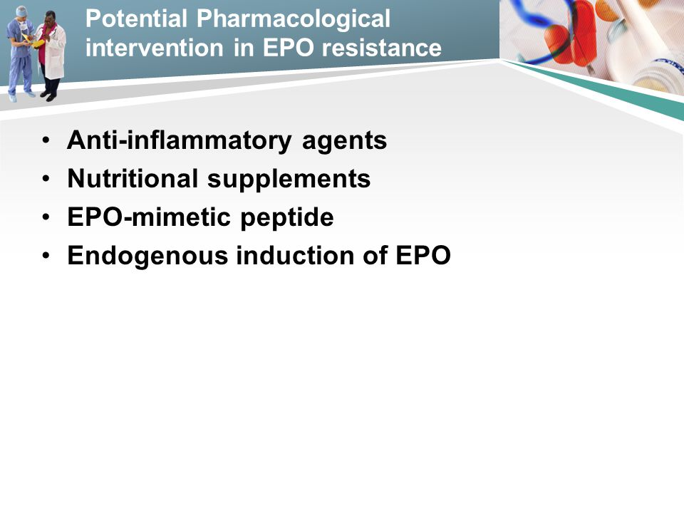 Potential Pharmacological intervention in EPO resistance