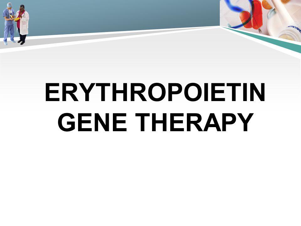 Erythropoietin gene therapy