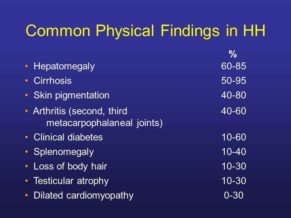 Common Physical Findings in HH