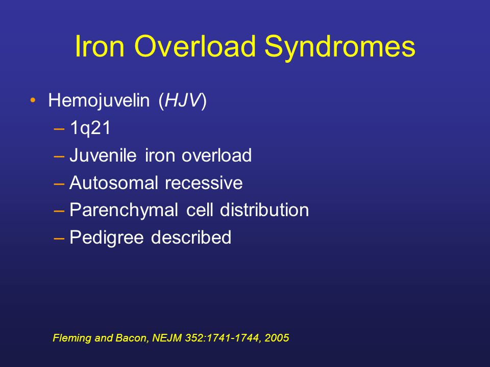 Iron Overload Syndromes