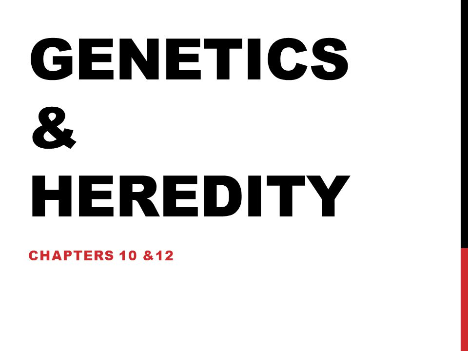 Genetics & heredity Chapters 10 &12