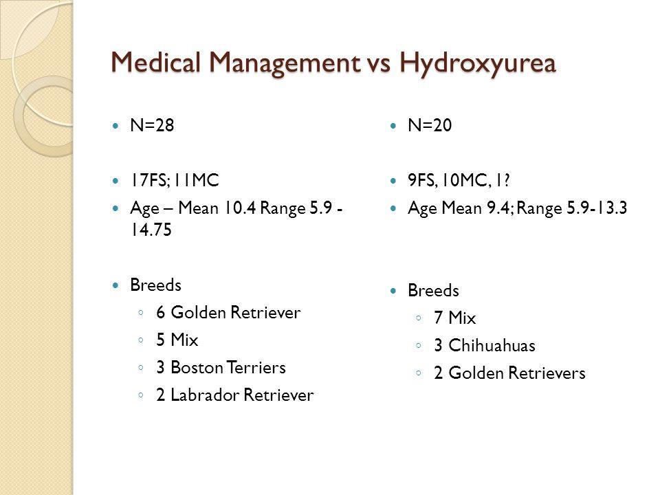Medical Management vs Hydroxyurea