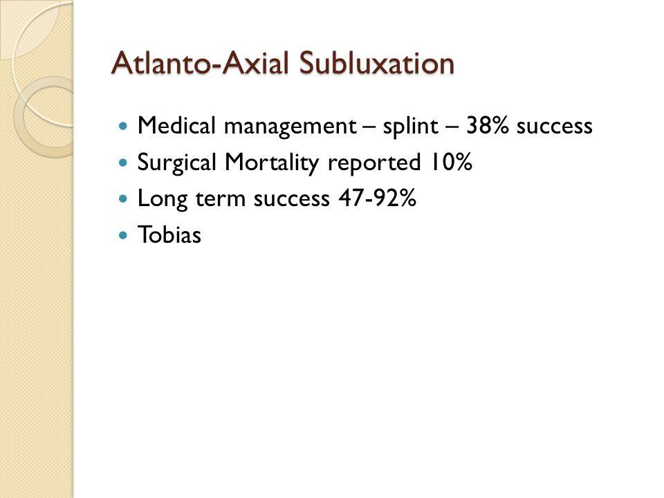 Atlanto-Axial Subluxation