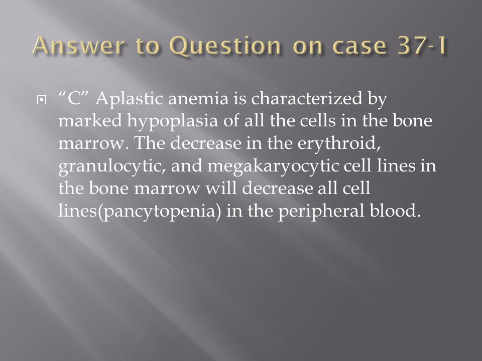 Answer to Question on case 37-1