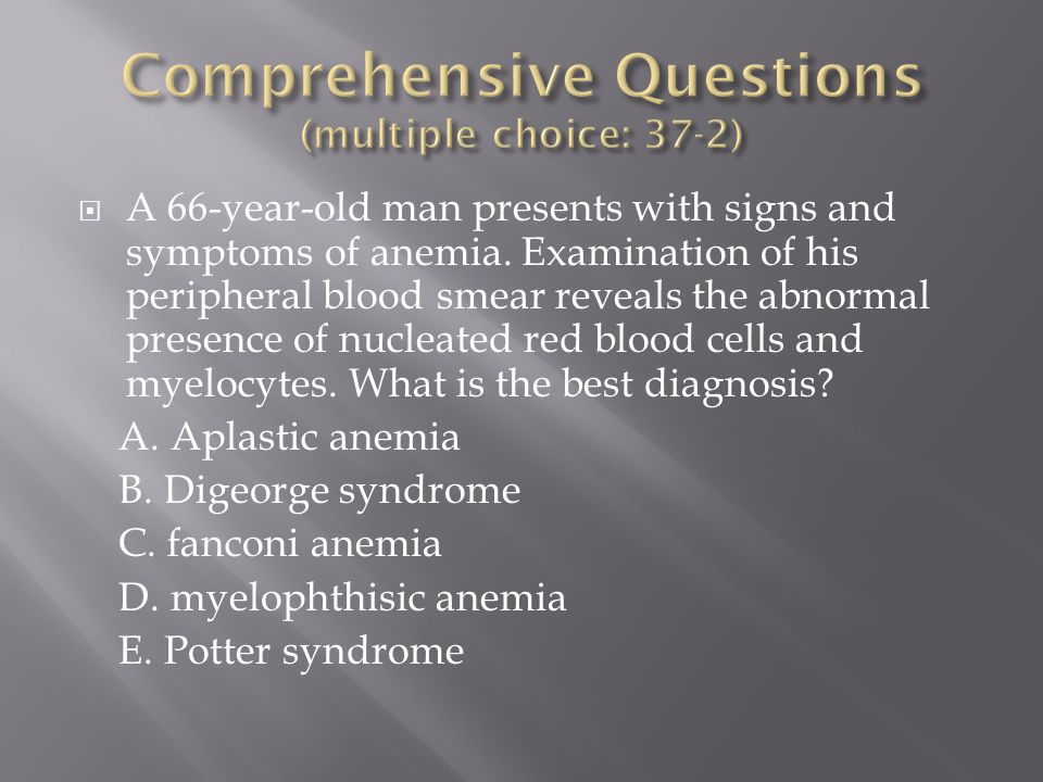 Comprehensive Questions (multiple choice: 37-2)