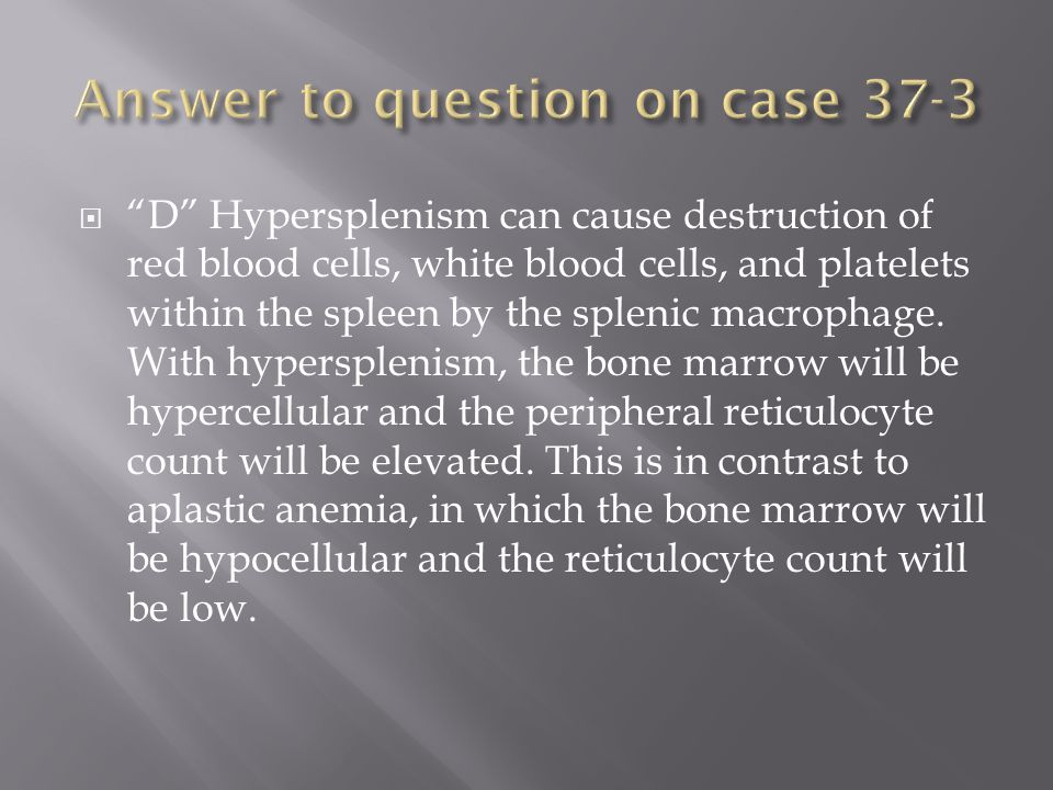 Answer to question on case 37-3