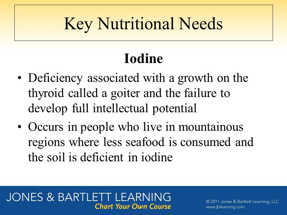 Key Nutritional Needs Iodine