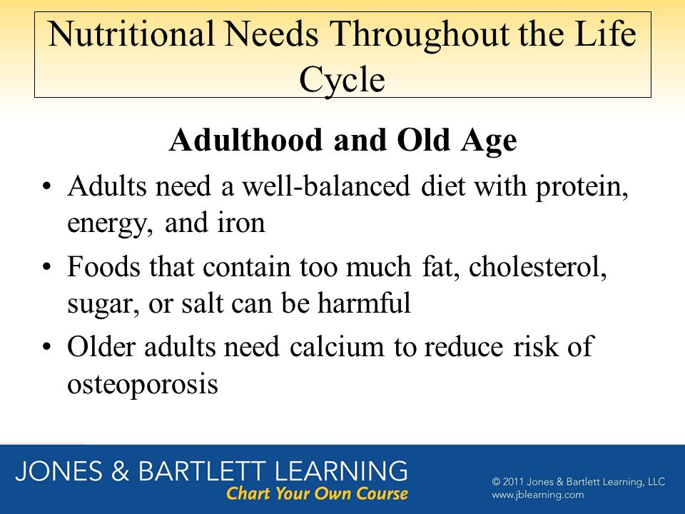 Nutritional Needs Throughout the Life Cycle