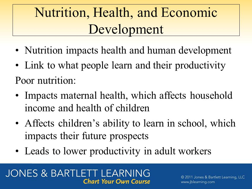 Nutrition, Health, and Economic Development
