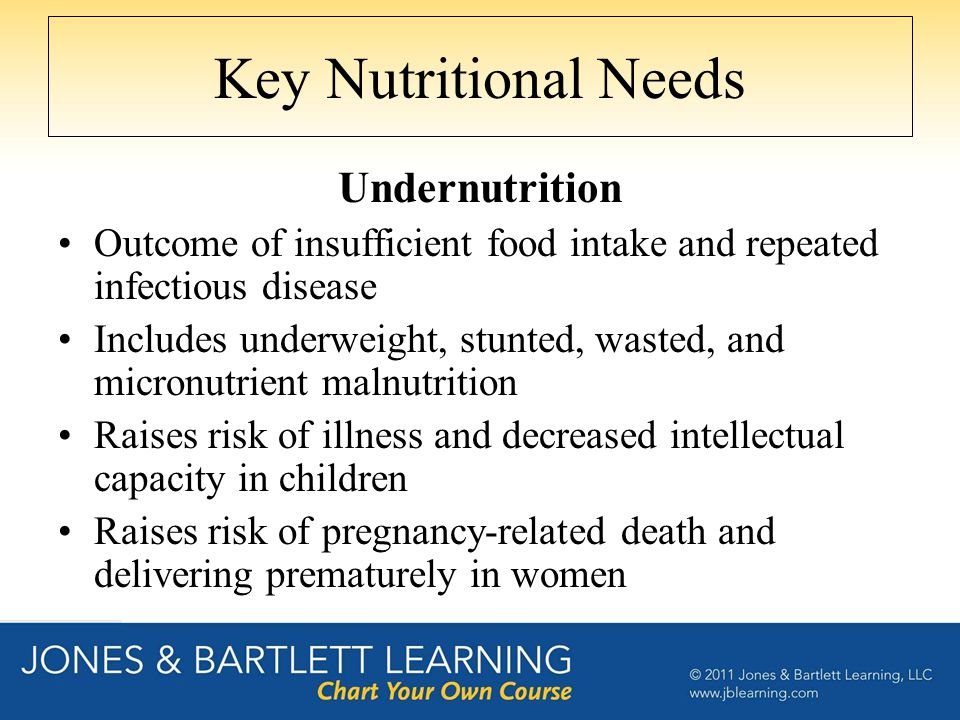 Key Nutritional Needs Undernutrition