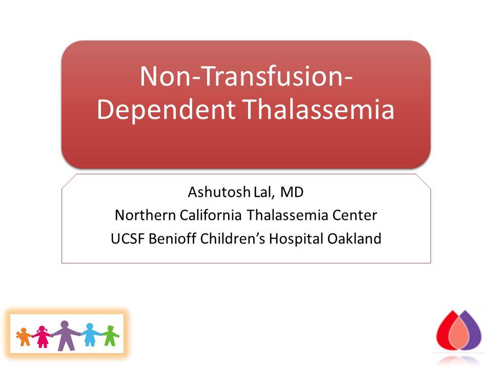 Non-Transfusion-Dependent Thalassemia