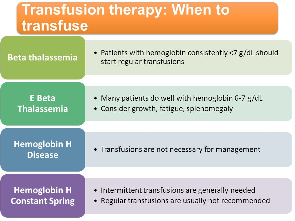 Transfusion therapy: When to transfuse