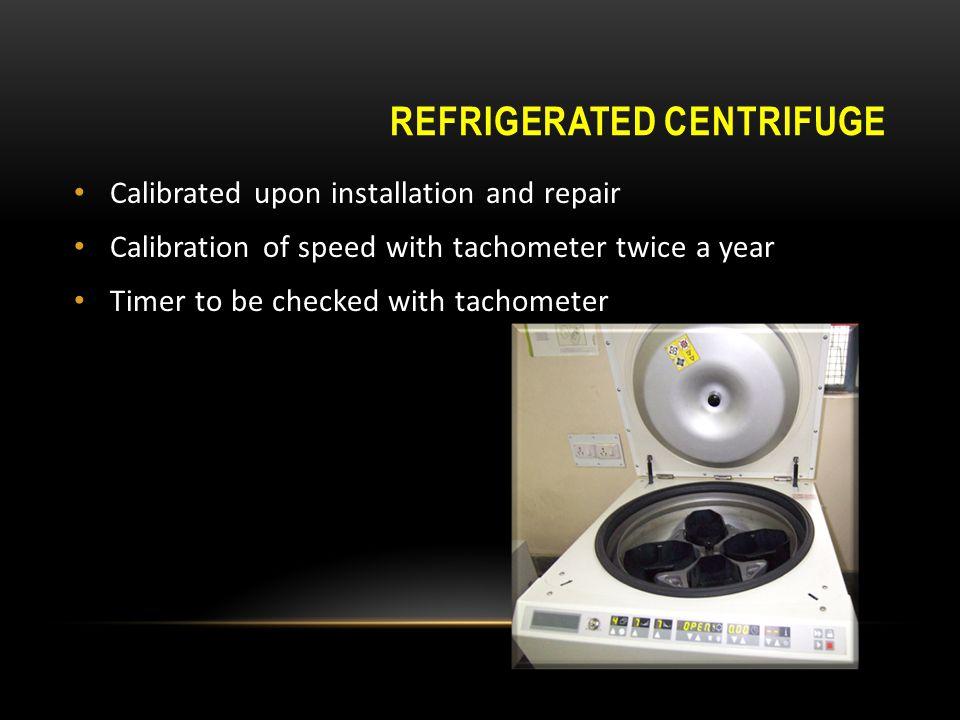 Refrigerated centrifuge