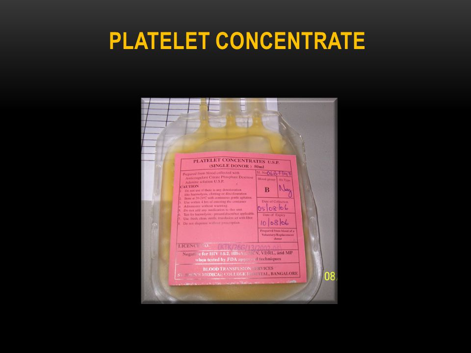 Platelet concentrate