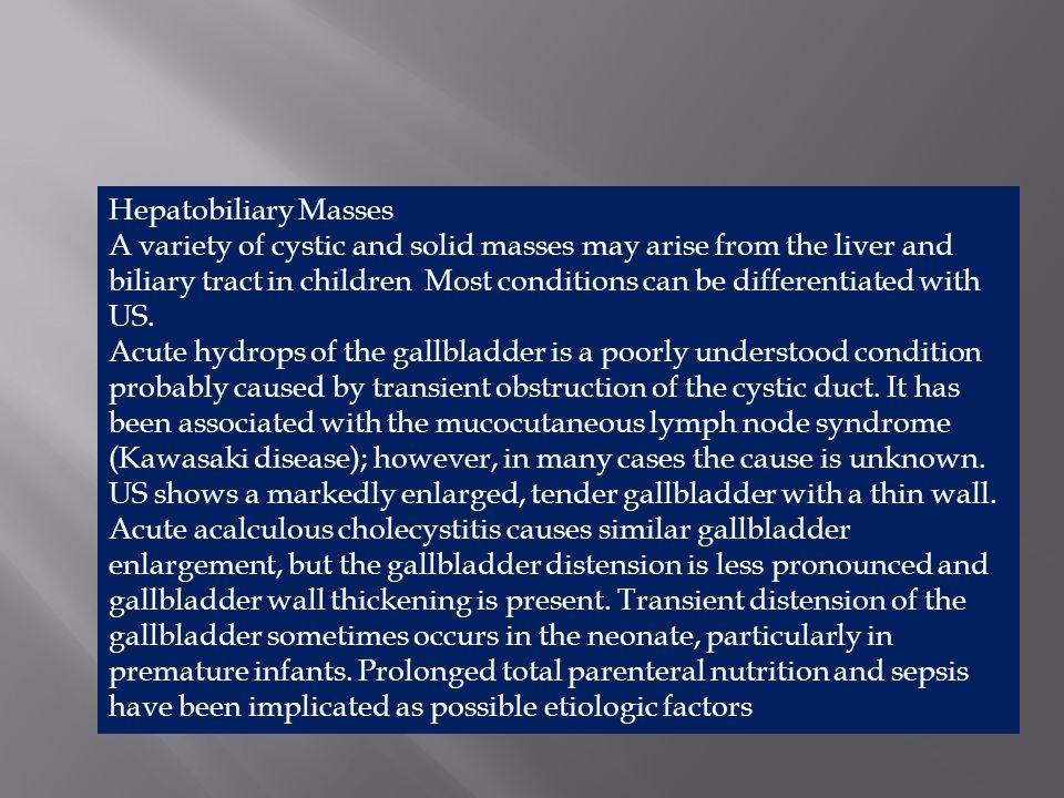 Hepatobiliary Masses