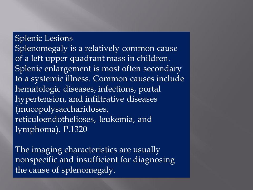Splenic Lesions