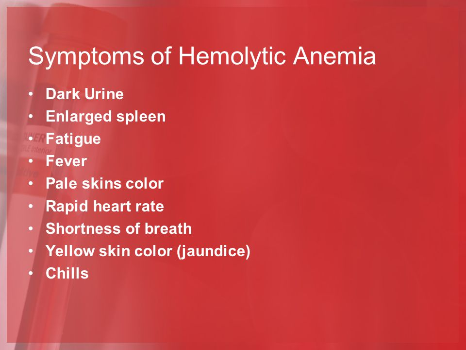 Symptoms of Hemolytic Anemia