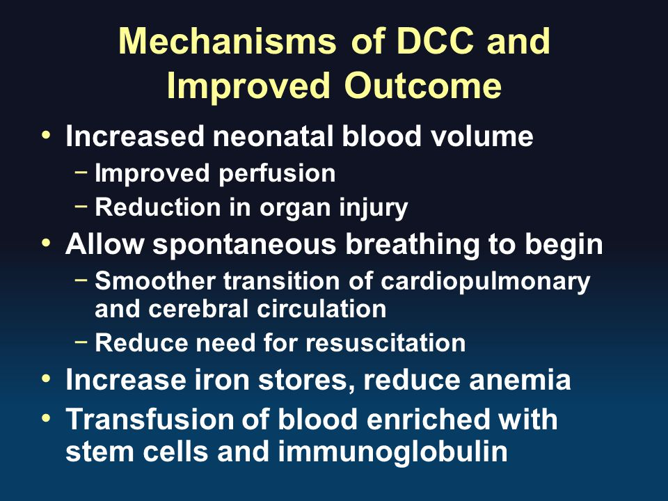 Mechanisms of DCC and Improved Outcome