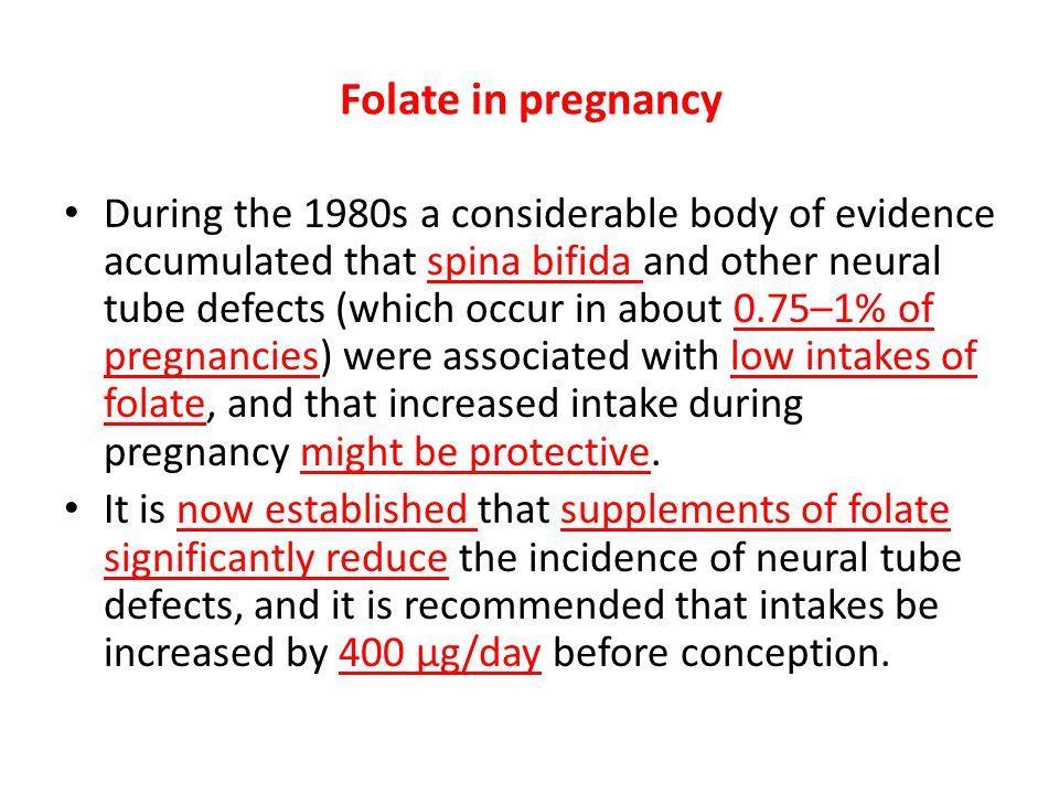 Folate in pregnancy