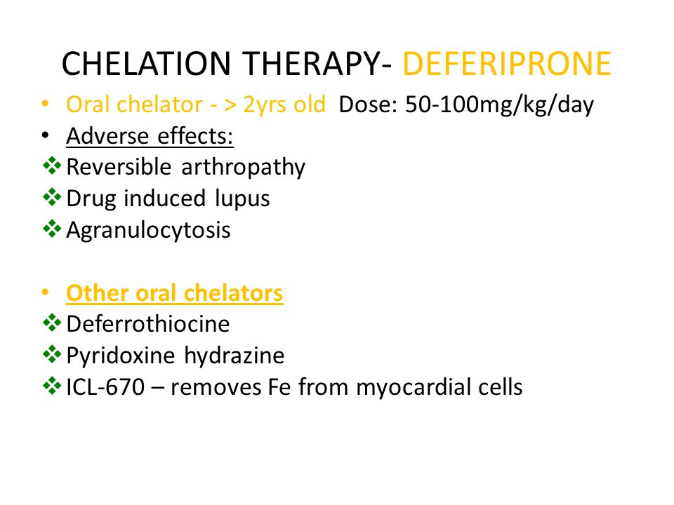 CHELATION THERAPY- DEFERIPRONE