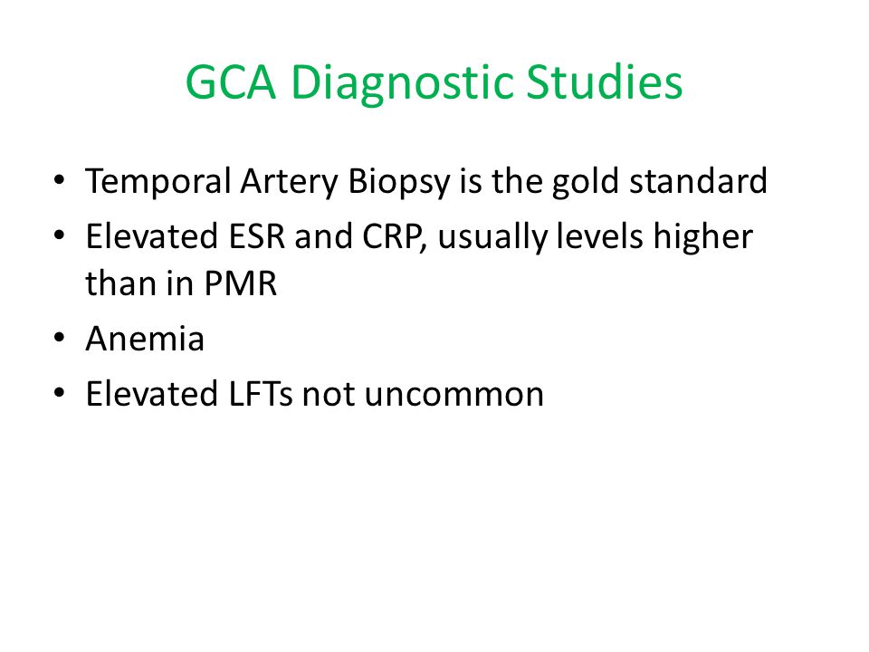 GCA Diagnostic Studies