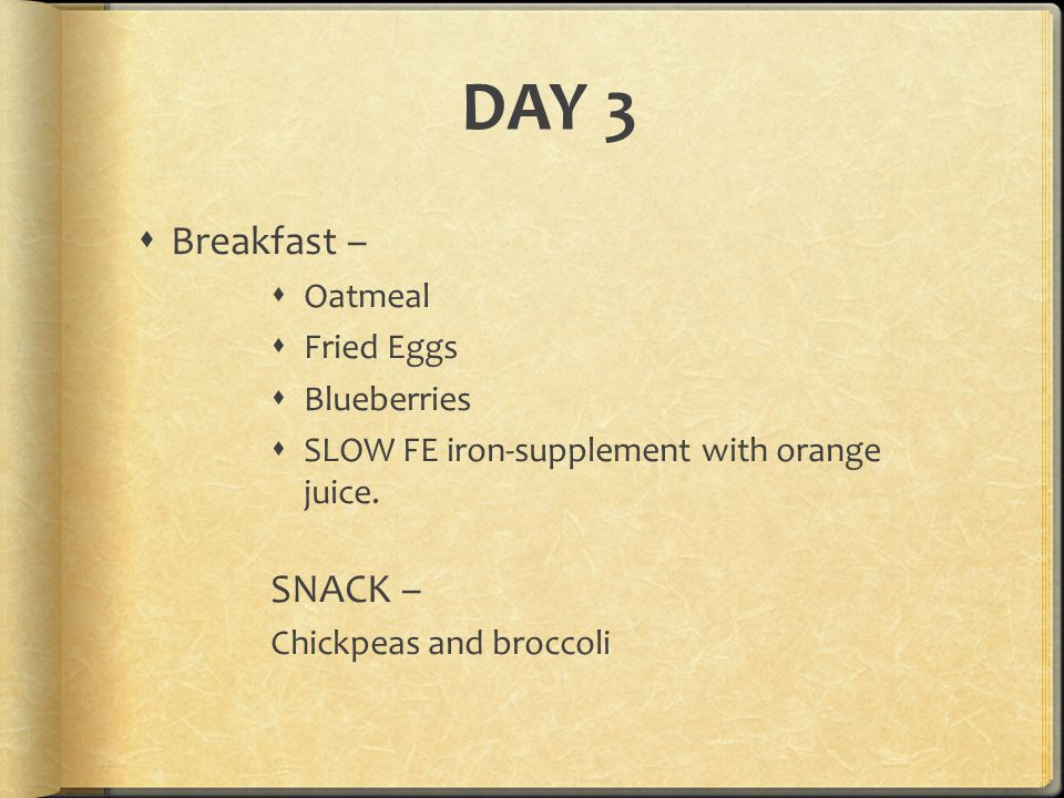 DAY 3 Breakfast – SNACK – Oatmeal Fried Eggs Blueberries