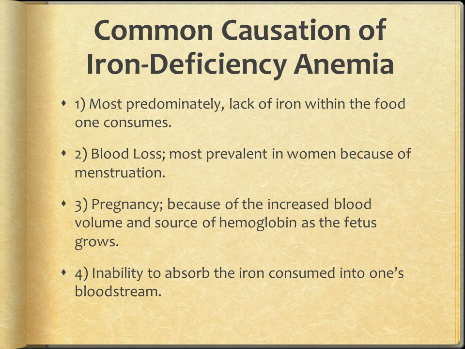 Common Causation of Iron-Deficiency Anemia
