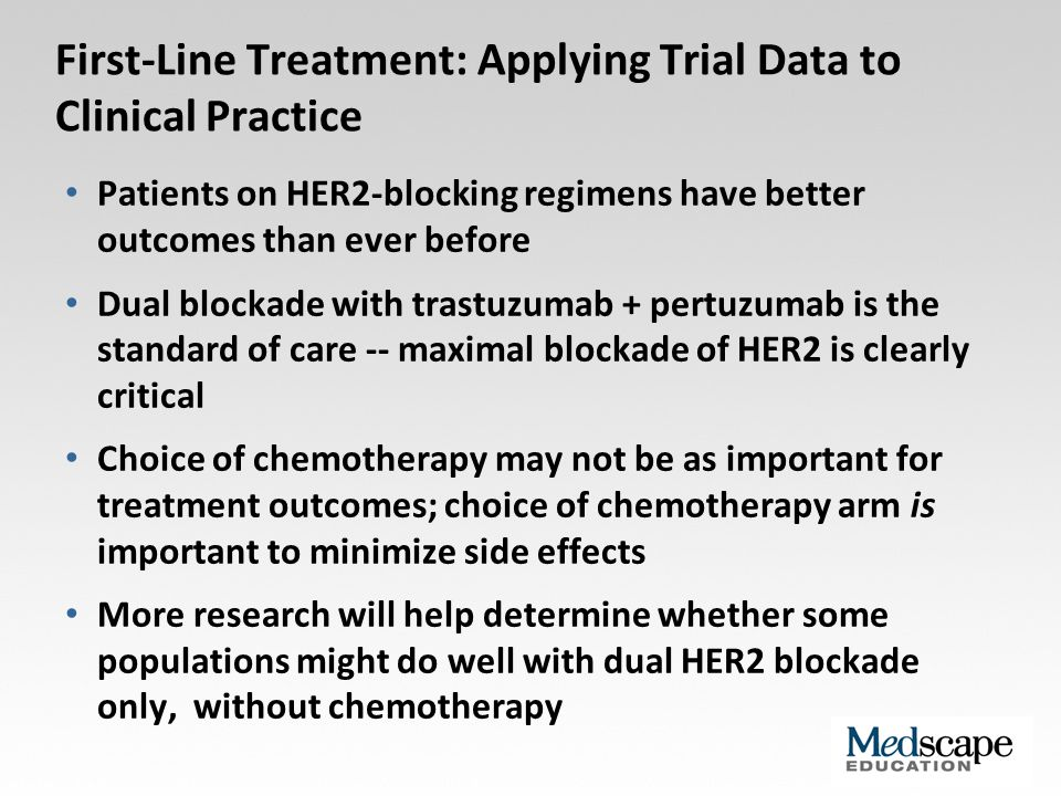 First-Line Treatment: Applying Trial Data to Clinical Practice