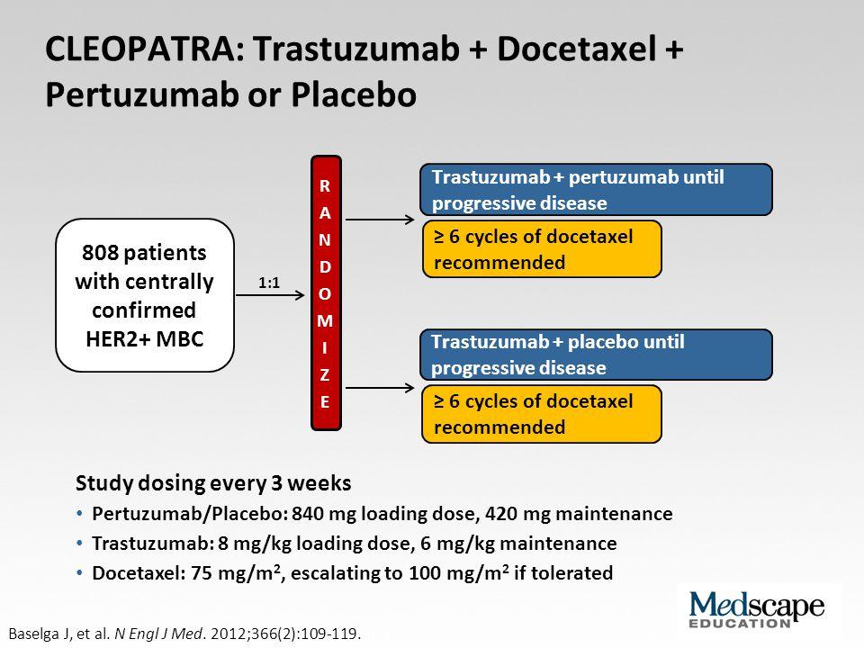 CLEOPATRA: Trastuzumab + Docetaxel + Pertuzumab or Placebo