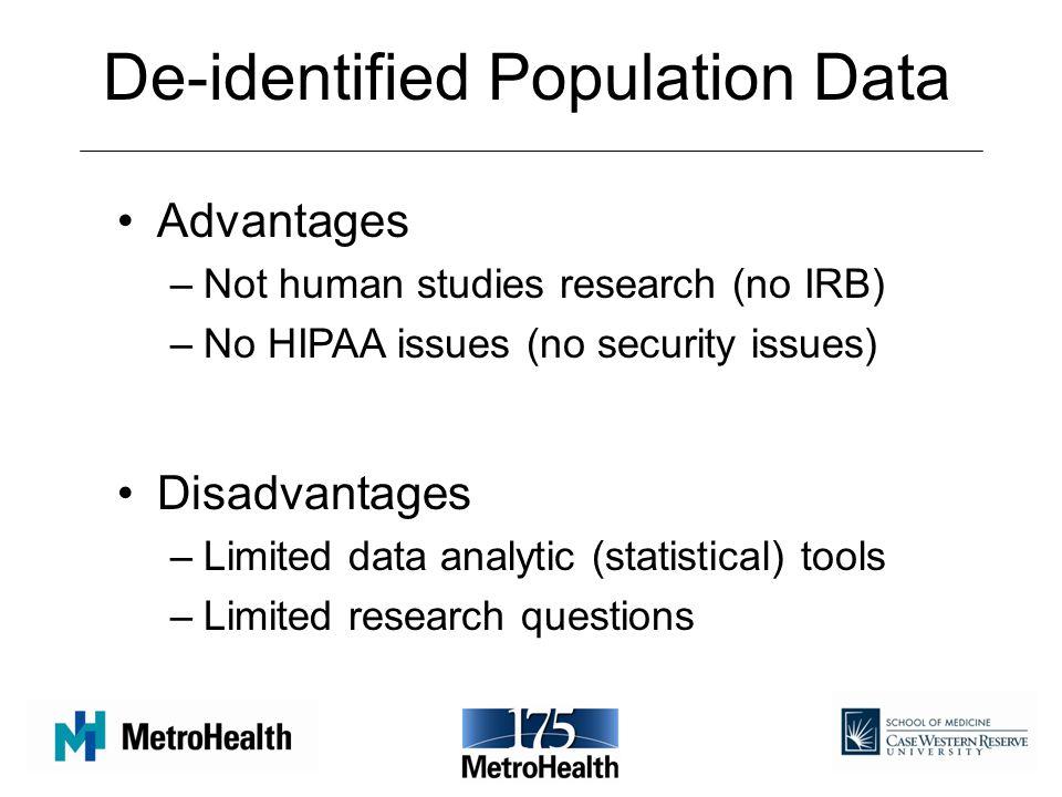 De-identified Population Data