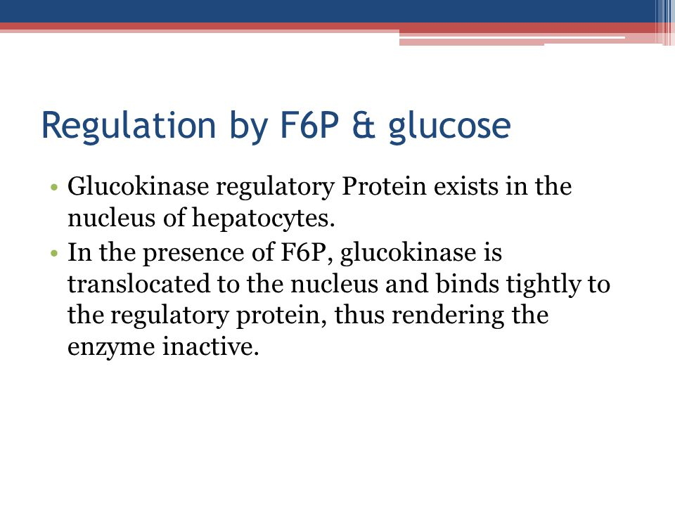 Regulation by F6P & glucose