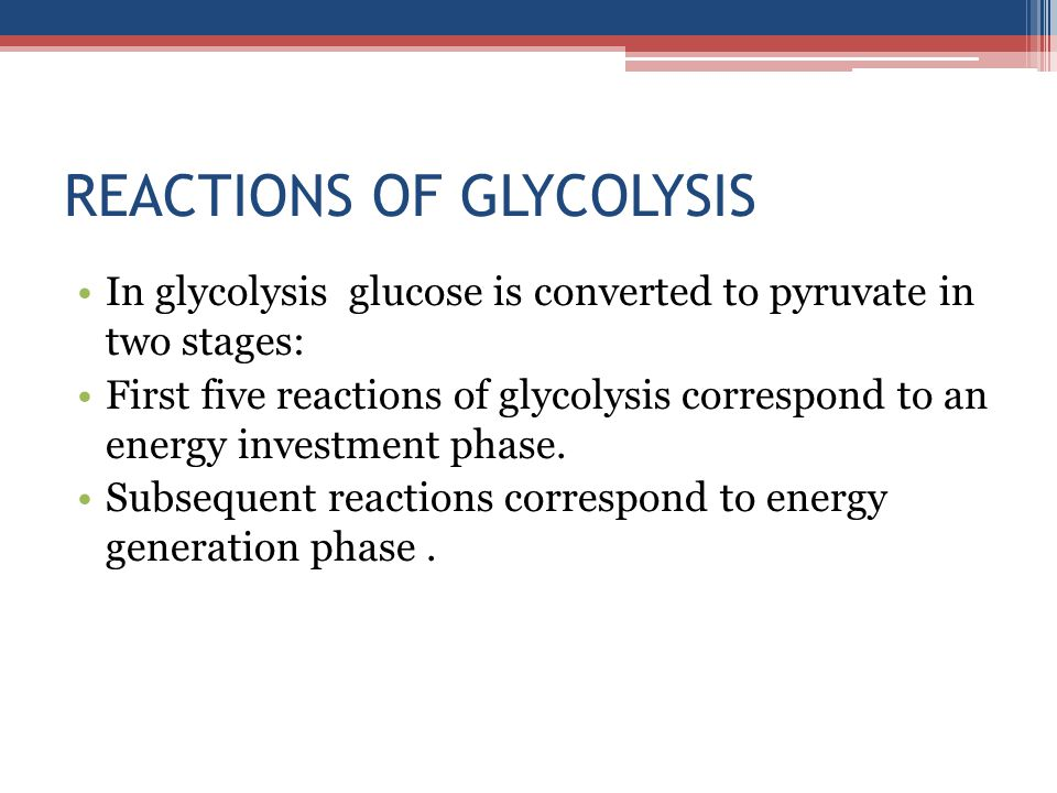 REACTIONS OF GLYCOLYSIS