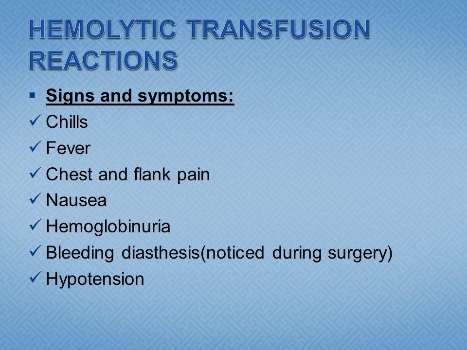 HEMOLYTIC TRANSFUSION REACTIONS